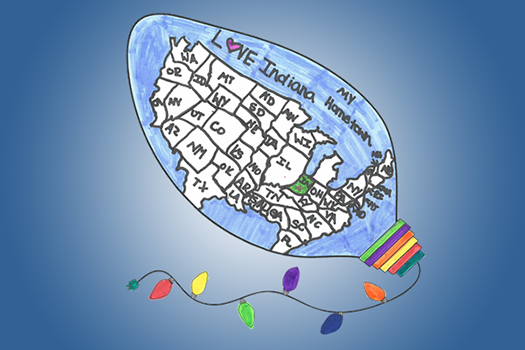 The Coloring Contest winner from 2014 featured the United States