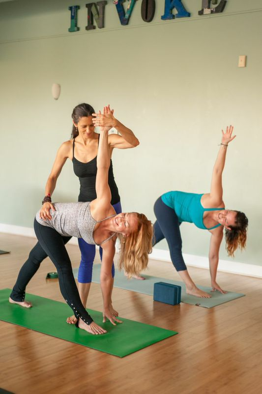 Invoke offers a range of yoga and pilates classes, even a Bikram-esque class in a room heated to about 100 degrees.