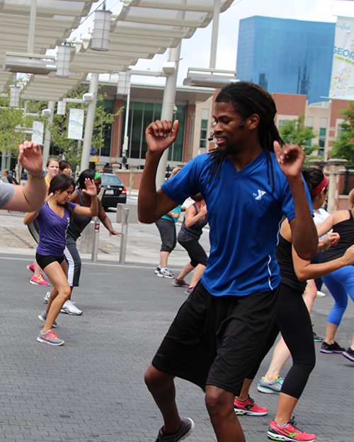 You're not afraid to shake what your mama gave you - on Georgia Street - are you? The Workout Wednesday series kicks off for a second year this spring.