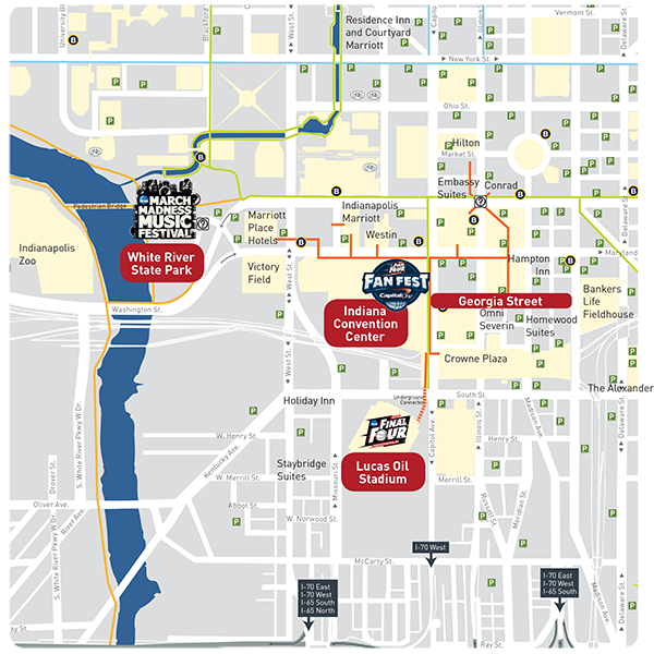Final Four Parking And Transportation Tips Downtown Indy