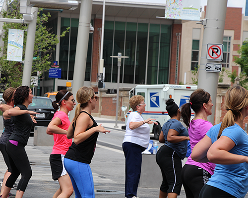 Some serious shaking goes on at Workout Wednesdays on Georgia Street. Head over to the Boardwalk at noon every Wednesday for Zumba or Hip Hop.