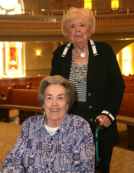 Marge Tarplee and Lou Ristine both served as beautification committee chairs for the Commission for Downtown.