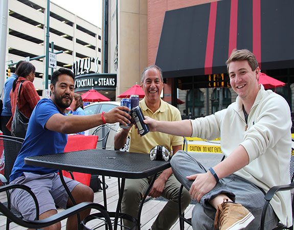 Happy Hours take place every Thursday during the summer on Georgia Street from 4:30 - 7 p.m.