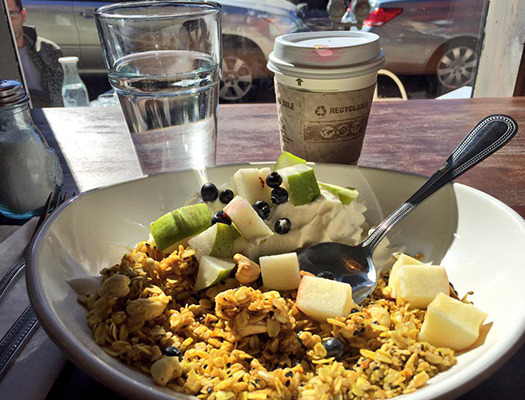 I love brunching at the Garden Table on Sunday afternoons. Their Granola Gangster is perfection in a bowl.
