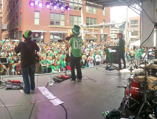 Live bands keep the Blarney Bash crowd energized all day!