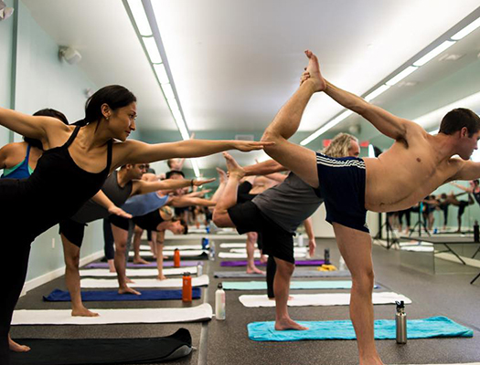 The Hot Room offers Bikram classes in a room heated to 105 degrees.