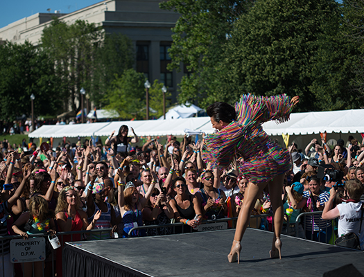 See performances and live music on the main stage at Circle Cit IN Pride Festival on June 11.