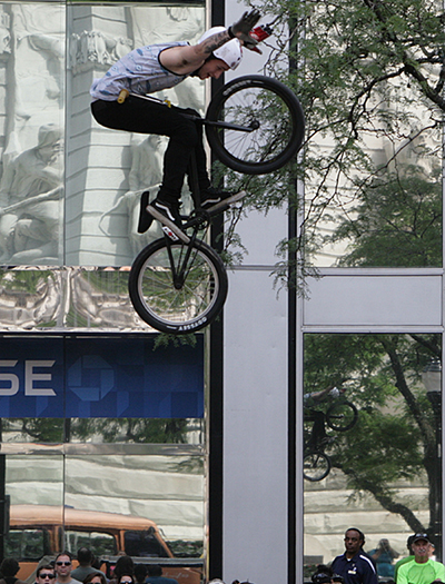 Be awed by BMX Stunt shows.