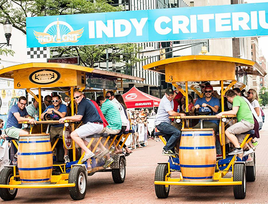 "Book a HandleBar during Indy Crit. The tour will end with a ""race"" between two Handlebar."