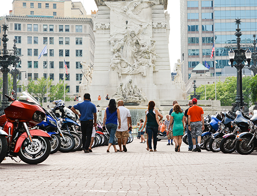 About 20,000 motorcyclists and an additional 10,000 spectators came Downtown last year for the annual Motorcycles on Meridian.